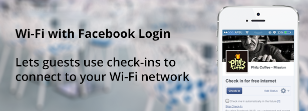 Wi-Fi with Facebook Login