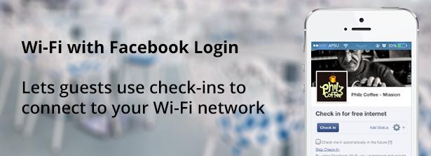 Wi-Fi with Facebook Login